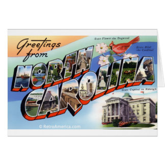 Greetings From North Carolina Card
