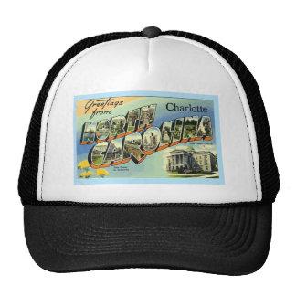 Greetings From North Carolina Charlotte, Vintage Mesh Hat