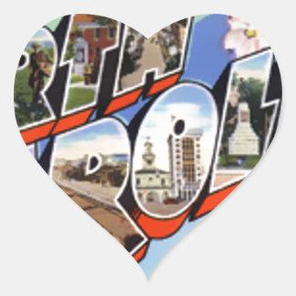 Greetings From North Carolina Heart Sticker