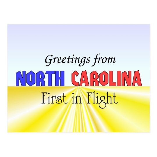 Greetings from North Carolina Postcard