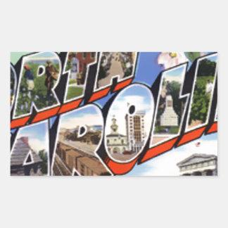 Greetings From North Carolina Rectangular Sticker