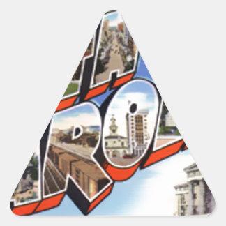 Greetings From North Carolina Triangle Sticker