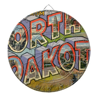 Greetings From North Dakota Dartboard