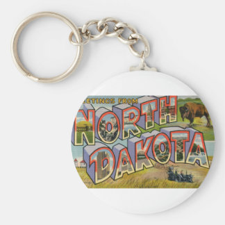 Greetings From North Dakota Key Ring
