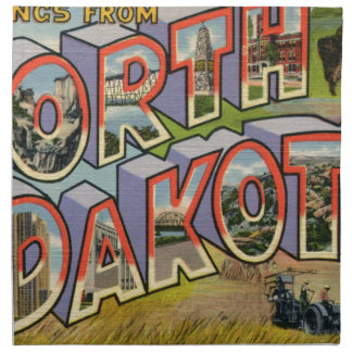 Greetings From North Dakota Napkin