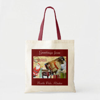 Greetings From North Pole, Alaska Canvas Bag