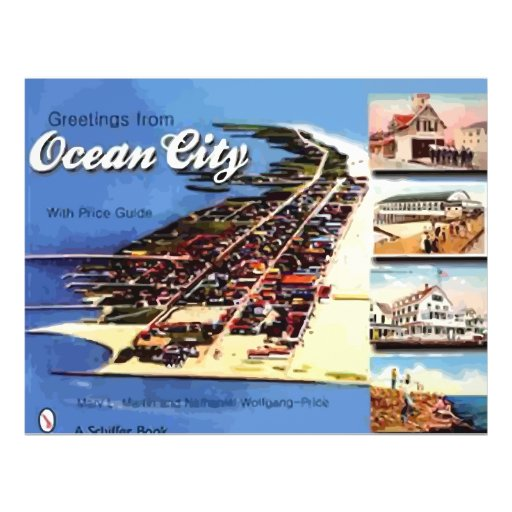 Greetings From Ocean City,With Price Guide, Vintag Personalized Flyer