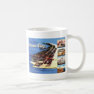 Greetings From Ocean City,With Price Guide, Vintag Mug