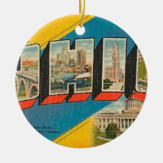 Greetings From Ohio Ceramic Ornament