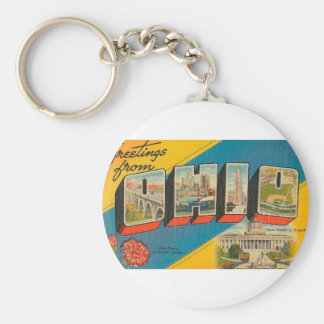 Greetings From Ohio Key Ring