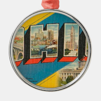 Greetings From Ohio Metal Ornament
