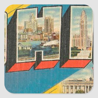 Greetings From Ohio Square Sticker