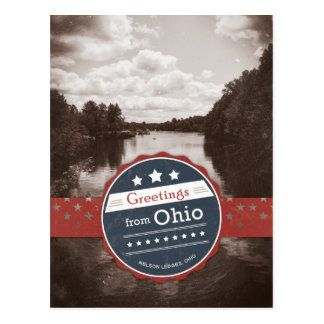 Greetings from Ohio - Vintage Postcard