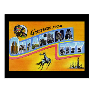 Greetings from Oklahoma City Oklahoma Postcard