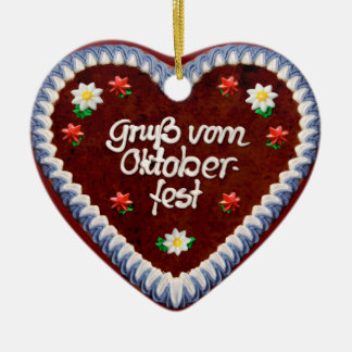 Greetings from Oktoberfest (customizable) Ceramic Ornament