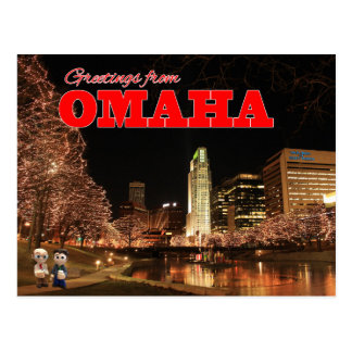 Greetings From Omaha Tales Postcard