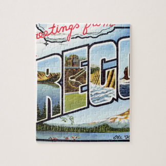 Greetings From Oregon Jigsaw Puzzle