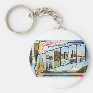 Greetings From Oregon Key Ring