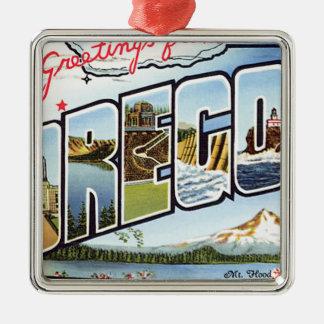 Greetings From Oregon Metal Ornament