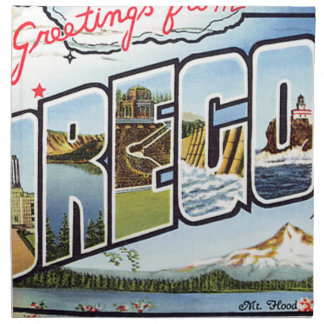 Greetings From Oregon Napkin