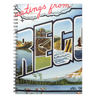 Greetings From Oregon Notebook