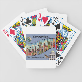 Greetings From Pennsylvania Bicycle Playing Cards