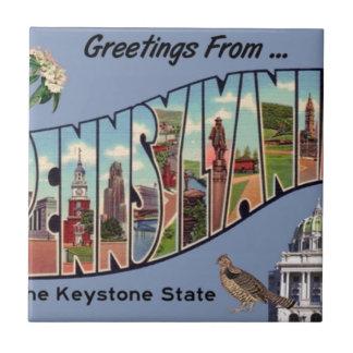 Greetings From Pennsylvania Ceramic Tile