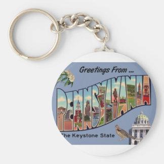 Greetings From Pennsylvania Key Ring