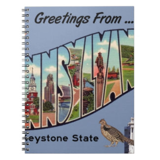 Greetings From Pennsylvania Notebooks