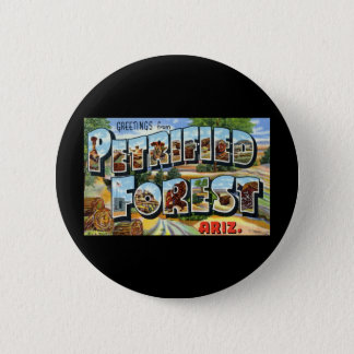 Greetings from Petrified Forest Arizona 6 Cm Round Badge