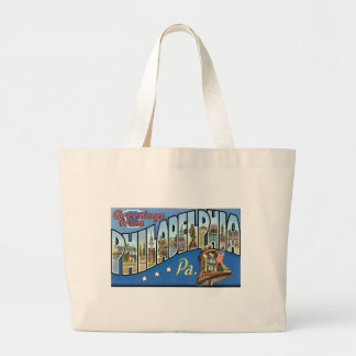 Greetings from Philadelphia, Pennsylvania! Large Tote Bag