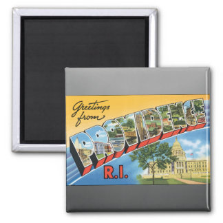 Greetings From Providence R.I., Vintage Refrigerator Magnet