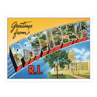 Greetings From Providence,Rhode Island Postcard