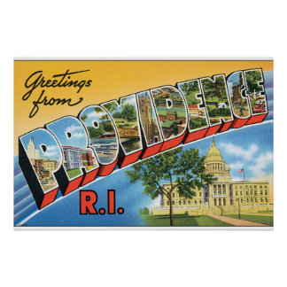 Greetings from Providence RI_Vintage Travel Poster