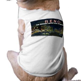 Greetings from Reno, Nevada! Sleeveless Dog Shirt