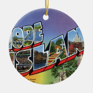 Greetings From Rhode Island Ceramic Ornament