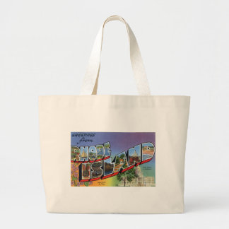 Greetings From Rhode Island Large Tote Bag