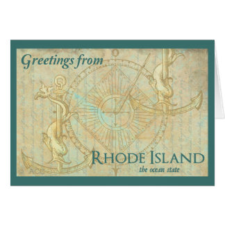 Greetings from Rhode Island the ocean state Card