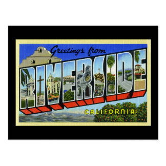Greetings from Riverside California Postcard