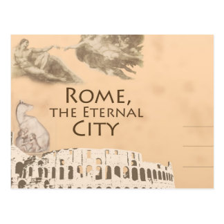 Greetings from Roman Colosseum Rome Italy Postcard