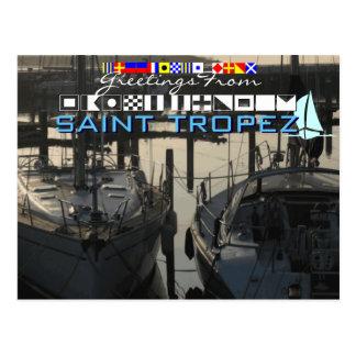 Greetings from Saint Tropez Postcard