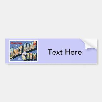Greetings From Salt Lake City Utah Bumper Sticker