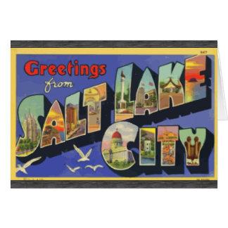 Greetings From Salt Lake City, Vintage Greeting Card