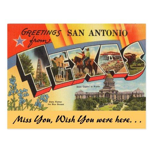 Greetings from San Antonio Post Cards