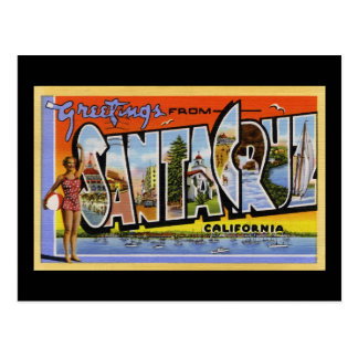 Greetings from Santa Cruz California Postcard