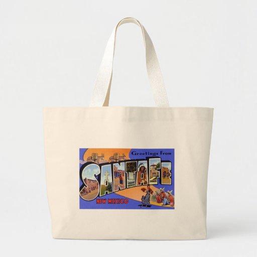 Greetings from Santa Fe New Mexico Canvas Bag