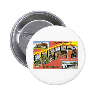 Greetings from Santa Fe New Mexico Pinback Buttons