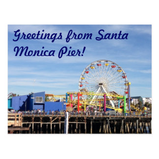 Greetings from Santa Monica Pier! Postcard