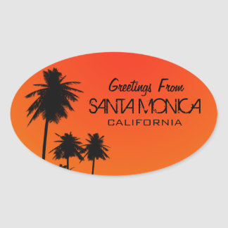 Greetings From Santa Monica Sticker