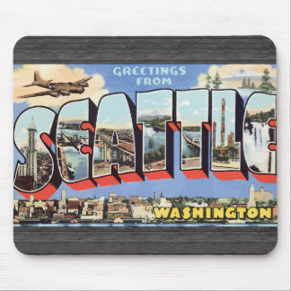 Greetings From Seattle Washington, Vintage Mouse Pads